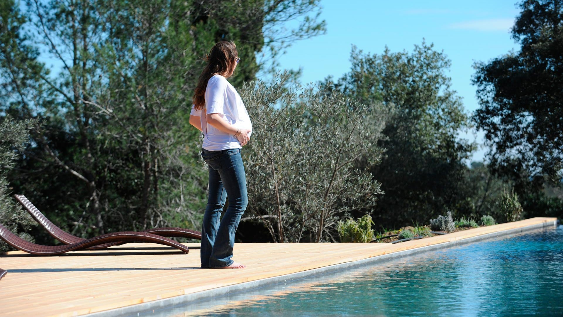 Garden with heated swimming pool in the Gard Nimes